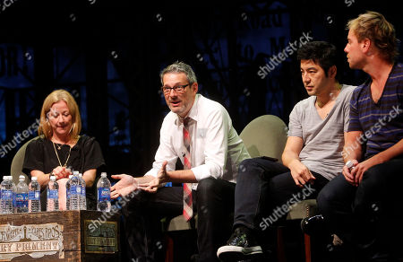 From left, Colleen DeCourcy, CEO of Socialistic, Michael Lebowitz, Founder and CEO of Big Spaceship, Rei Inamoto, Chief Creative Officer of AKQA, and Philippe Meunier, Creative Director of Sid Lee, participate in a panel at Advertising Week on in New York