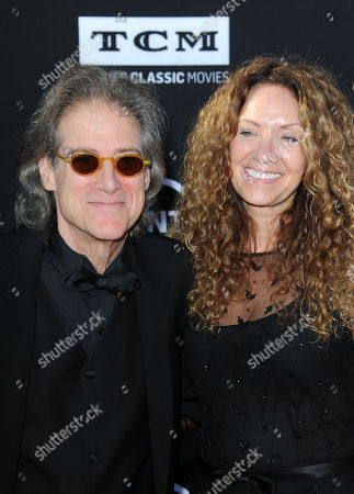 Richard Lewis, at left, and his wife, Joyce Lapinsky arrives at the American Film Institute's 41st Lifetime Achievement Gala at the Dolby Theatre on Thursday, June6, 2013 in Los Angeles