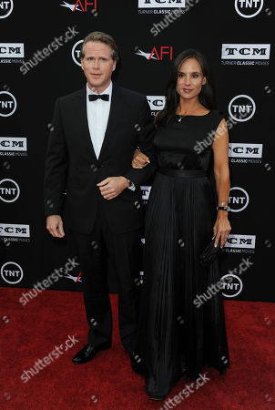Cary Elwes, at left, and his wife, Lisa Marie Kubikoff, arrives at the American Film Institute's 41st Lifetime Achievement Gala at the Dolby Theatre on Thursday, June6, 2013 in Los Angeles