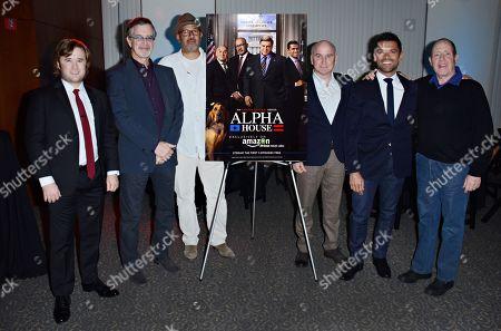Haley Joel Osment, Garry Trudeau, Clark Johnson, Matt Malloy, Mark Consuelos seen at Amazon Studios at the Television Academy, on in North Hollywood, CA