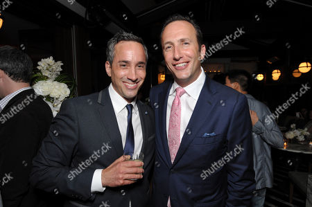 Head of creative affairs, Endemol Studios Jeremy Gold, left, and president of AMC, Charlie Collier attend AMC's 'Low Winter Sun' premiere screening on in Los Angeles