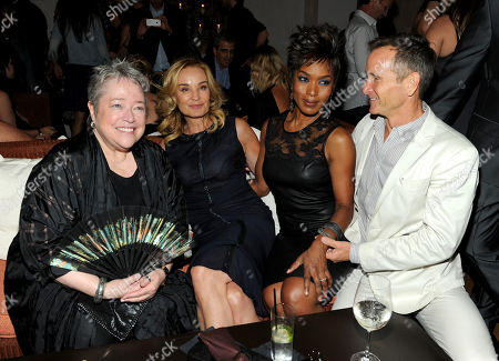 From left, actors Kathy Bates, Jessica Lange and Angela Basset and EP Dante Di Loreto attend the American Horror Story: Coven Premiere Event,, at Fig & Olive in West Hollywood, Calif