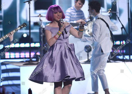 Stock Picture of Joey Cook performs at the American Idol XIV finale at the Dolby Theatre, in Los Angeles
