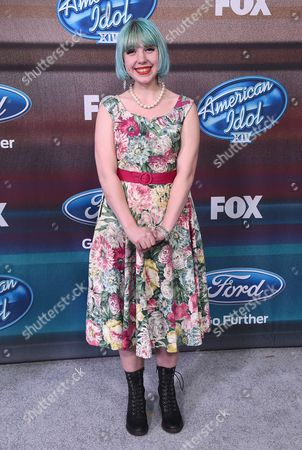 "Joey Cook arrives at the ""American Idol XIV"" finalists party at The District by Hannah An on Wednesday, Mar. 11th in Los Angeles"