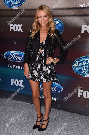"""Stock Photo of Becky Newton arrives at the """"American Idol XIV"""" finalists party at The District by Hannah An on Wednesday, Mar. 11th in Los Angeles"""