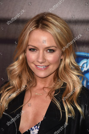 """Becky Newton arrives at the """"American Idol XIV"""" finalists party at The District by Hannah An on Wednesday, Mar. 11th in Los Angeles"""