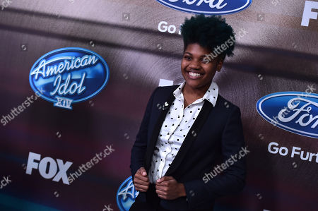 """Tyanna Jones arrives at the """"American Idol XIV"""" finalists party at The District by Hannah An on Wednesday, Mar. 11th in Los Angeles"""