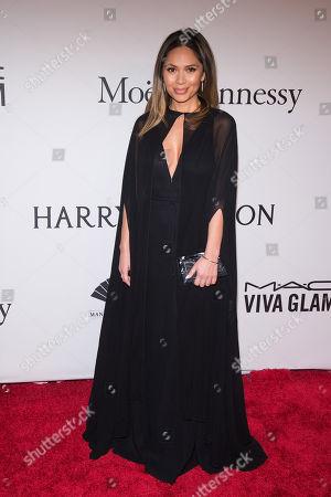 Marianna Hewitt attends amfAR's New York Gala honoring Harvey Weinstein at Cipriani Wall Street, in New York