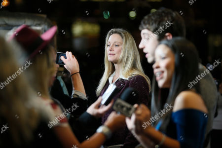 """From left to right, actress Teri Polo, actor David Lambert, and actress Cierra Ramirez are interviewed at """"An Evening with the Fosters"""" presented by the Television Academy at the El Portal Theatre on in the NoHo Arts District in Los Angeles"""