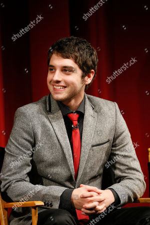 """Actor David Lambert participates in a panel at """"An Evening with the Fosters"""" presented by the Television Academy at the El Portal Theatre on in the NoHo Arts District in Los Angeles"""