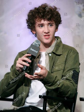 Actor Art Parkinson participates in AOL's BUILD Speaker Series to discuss the film Kubo and the Two Strings at AOL Studios, in New York