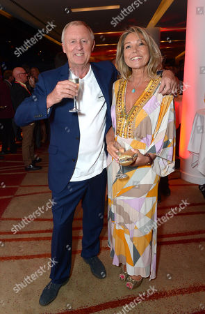 Chris Tarrant with Jane Bird are seen at the Arqiva Commercial Radio Awards in London on