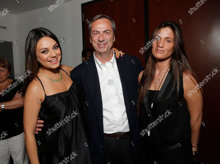 Mila Kunis, Vhernier Owner/President Carlo Traglio and guest attend the Artists for Peace & Justice Special Screening of Sony Pictures Classics and Paul Haggisâ?™ Third Person, in Los Angeles