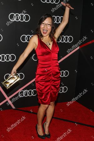 Stock Picture of Helen Hong arrives to the Audi Golden Globes Cocktail Party held at Cecconi's Restaurant on in West Hollywood, California