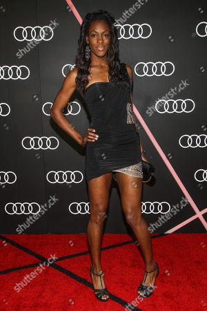 Stock Image of DeeDee Trotter arrives to the Audi Golden Globes Cocktail Party held at Cecconi's Restaurant on in West Hollywood, California