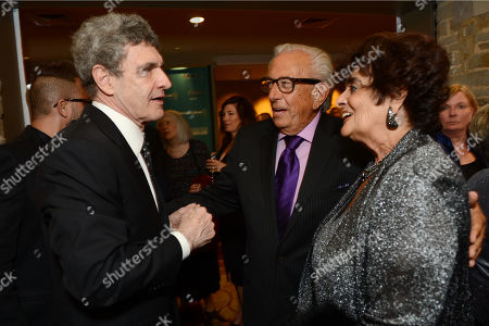 Alan Horn, chairman of The Walt Disney Studios, and from left, Frank Mancuso, chairman and board of directors of Geffen Playhouse, and Faye Mancuso attend Backstage At The Geffen Gala, in Los Angeles