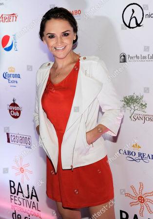Actress Rachel Leigh Cook poses at the Baja International Film Festival Closing Night Awards Gala, in San Jose del Cabo, Mexico