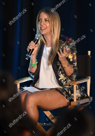 Stock Image of Lindsay Albanese attends BeautyCon Los Angeles 2014 in Partnership with Elle at LA Mart, in Los Angeles