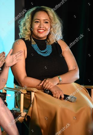 Gabi Gregg attends BeautyCon Los Angeles 2014 in Partnership with Elle at LA Mart, in Los Angeles