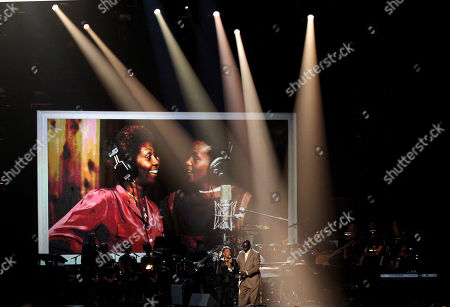 Cissy Houston and Gary Houston perform during the in memoriam for Whitney Houston at the BET Awards, in Los Angeles