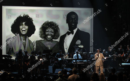 Gary Houston performs during the in memoriam for Whitney Houston at the BET Awards, in Los Angeles