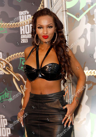 Lola Monroe walked the red carpet at the 2013 BET Hip Hop Awards at the Atlanta Civic Center, in Atlanta, Ga