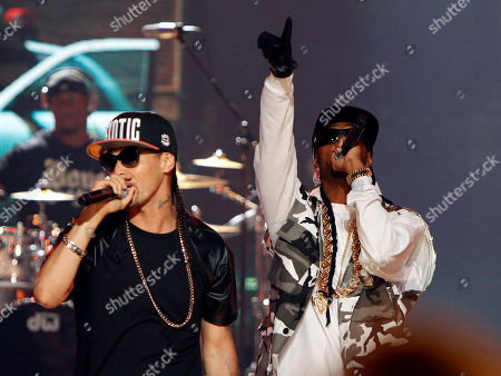 Stock Picture of Flesh-n-Bone and Crazy Bone of Bone Thugs-n-Harmony performed at the 2013 BET Hip Hop Awards at the Atlanta Civic Center, in Atlanta, Ga