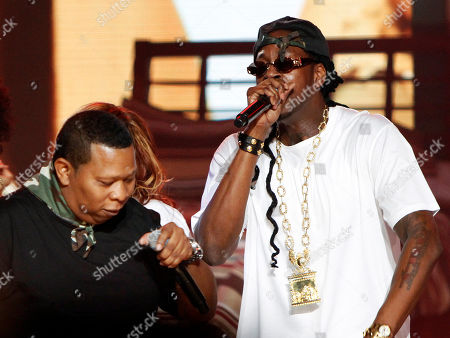 Mannie Fresh and 2 Chainz performed at the 2013 BET Hip Hop Awards at the Atlanta Civic Center, in Atlanta, Ga