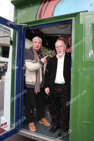 Storm Thorgerson and Peter Blake on the CCA Art Bus