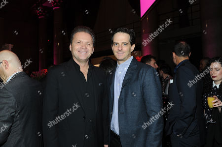 Michael Martin, left, and Steve Blatter seen at Billboard Women in Music at Cipriani Wall Strees, in New York