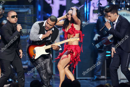 Larry Hernandez, performs at the 2012 Billboard Mexican Music Awards at the Shrine Auditorium, in Los Angeles