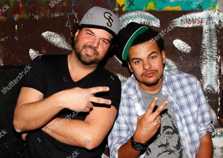 Songwriters Dallas Davidson and Alex Da Kid seen backstage at BMI Presents: How I Wrote That Song 2014 at the House of Blues, in West Hollywood, Calif