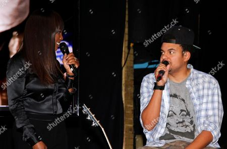 Catherine Brewton, Vice President, Writer/Publisher Relations at BMI and songwriter Alex Da Kid seen on stage at BMI Presents: How I Wrote That Song 2014 at the House of Blues, in West Hollywood, Calif