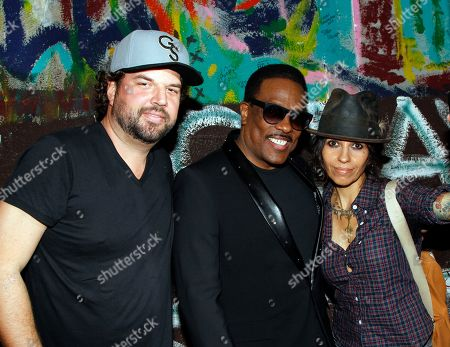 Songwriters Dallas Davidson, Charlie Wilson and Linda Perry seen backstage at BMI Presents: How I Wrote That Song 2014 at the House of Blues, in West Hollywood, Calif