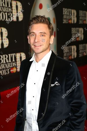 DJ Fresh seen arriving at the BRIT Awards 2013 at the o2 Arena, in London