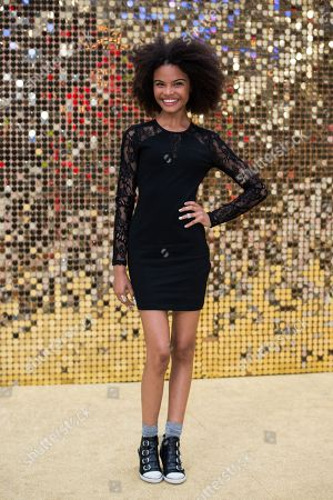 Indeyarna Donaldson Holness poses for photographers upon arrival at the World premiere of the film 'Absolutely Fabulous' in London