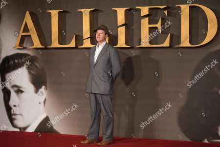 Stock Photo of Daniel Betts poses for photographers upon arrival at the premiere of the film 'Allied' in London