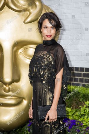 Vinette Robinson poses for photographers upon arrival at the British Academy Television Craft Awards in London