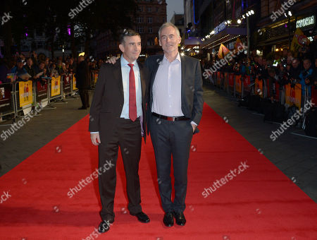 """Steve Coogan and Martin Sixsmith attend the American Express Gala Screening of """"Philomena"""" at the Odeon West End during the 57th BFI London Film Festival in partnership with American Express®, in London"""