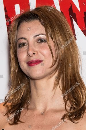 Stock Photo of Actress Julie Dray poses for photographers upon arrival at the premiere of the film 'Breaking the Bank' in London