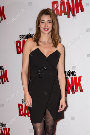 Stock Image of Actress Julie Dray poses for photographers upon arrival at the premiere of the film 'Breaking the Bank' in London