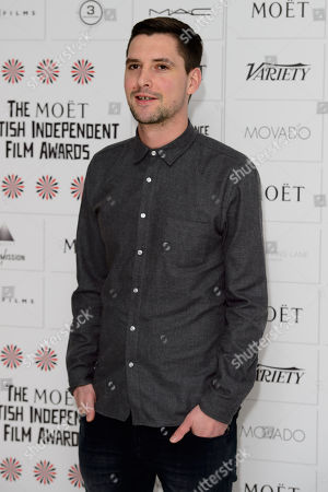 Stock Image of Mike Brett arrives for the British Independent Film Awards Nominations at a central London venue, London