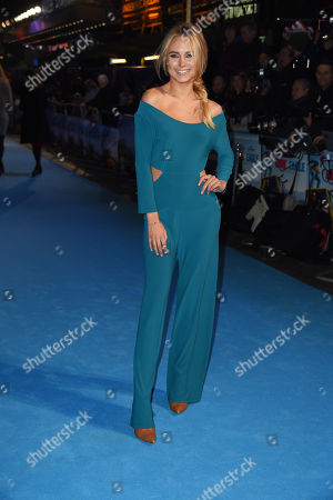Kimberly Garner poses for photographers upon arrival at the premiere of the film 'Eddie The Eagle' in London