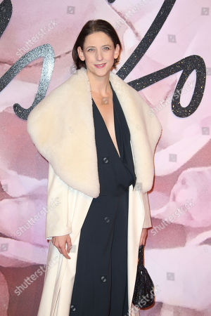 Maria Grachvogel poses for photographers at the Fashion Awards in London