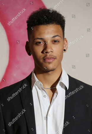 Stock Image of Jordan Bolger arrives for a private screening of the new series of Peaky Blinders at the Ham Yard Hotel in central London