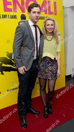 Stock Photo of British actors Jess Ellerby and Nick Hendrix arrive for a screening of the film Svengali, at the Rich Mix cinema in east London