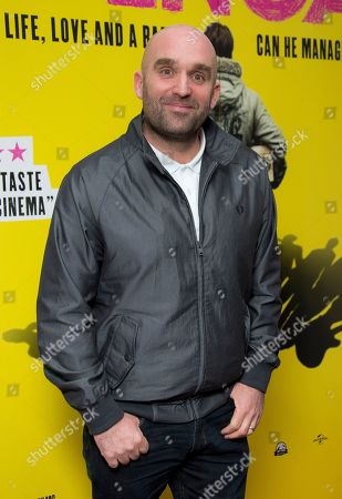 British director Shane Meadows arrives for a screening of the film Svengali, at the Rich Mix cinema in east London