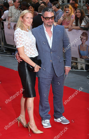 Rebecca Morgan and Huey Morgan arrive for the World Premiere of Diana at a central London cinema, . Directed by Oliver Hirschbiegel, the film is about the last two years of the life of Diana, Princess of Wales. The screenplay is based on the Kate Snell's 2001 book Diana: Her Last Love, and was written by Stephen Jeffreys