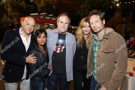 EXCLUSIVE CONTENT - PREMIUM RATES APPLY Evan Handler, Pamela Adlon, Creator/Executive Producer Tom Kapinos, Natascha McElhone and David Duchovny seen at the Californication Season 7 Wrap Party, on Saturday, July, 27, 2013 in Los Angeles