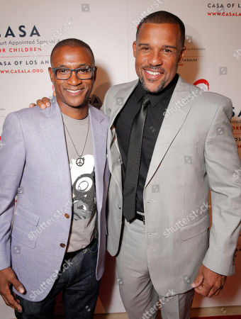 Tommy Davidson and Peter Parros attend the CASA/LA Evening to Foster Dreams Gala at the Beverly Hilton on in Beverly Hills, Calif
